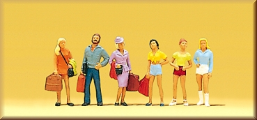 Spielzeug Preiser 10116 Gehende Reisende